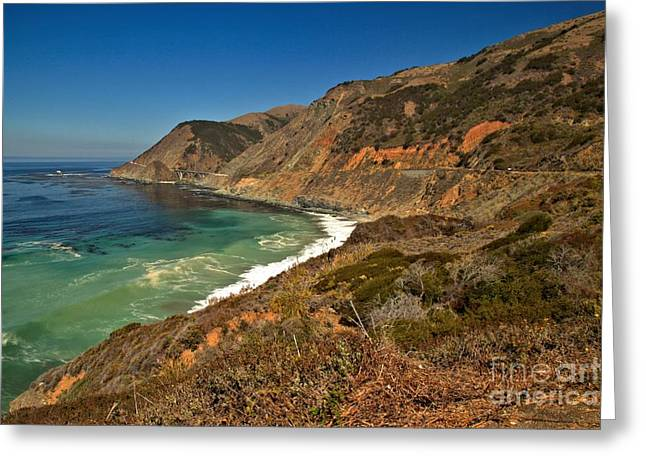 Big Sur California Greeting Cards - The Pastel Coast Greeting Card by Adam Jewell