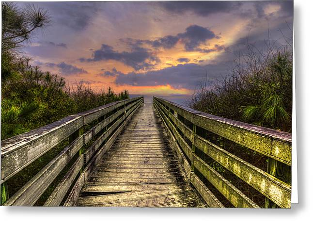 The Path Greeting Card by Debra and Dave Vanderlaan