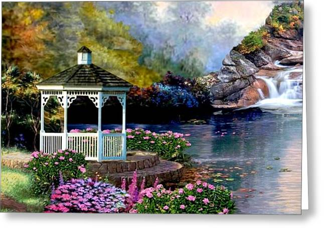 Heavens Gate Greeting Cards - The Path Least Fallowed II Greeting Card by Ronald Chambers