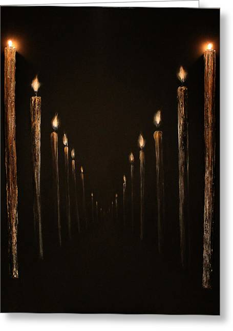 The Shadow Of Death Greeting Cards - The path Greeting Card by Mher Khachatryan
