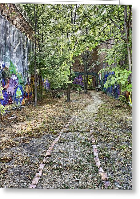 Conway Arkansas Greeting Cards - The Path of Graffiti Greeting Card by Jason Politte