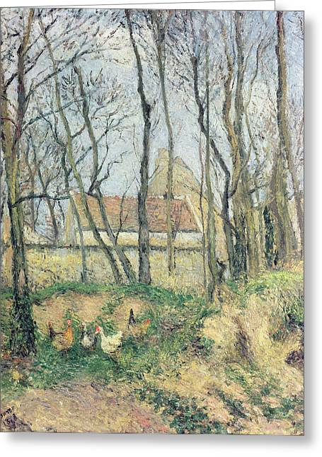 Hometown Greeting Cards - The Path of the Wretched Greeting Card by Camille Pissarro
