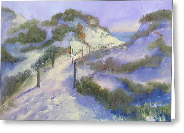 Florida Panhandle Paintings Greeting Cards - The Path Greeting Card by Susan Richardson