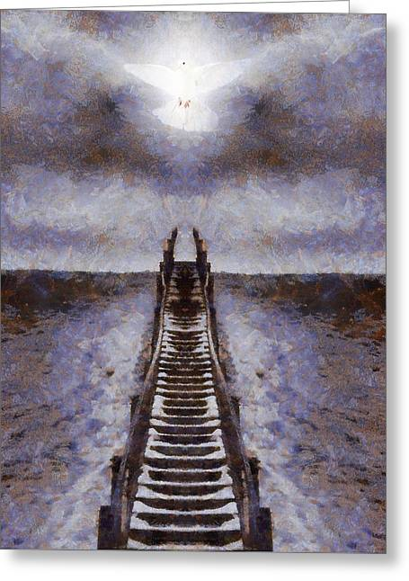 Forgiven Greeting Cards - The Path To Heaven Greeting Card by Dan Sproul