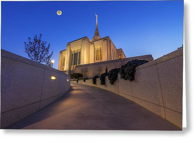 The Path To Ogden Temple Greeting Card by Dustin  LeFevre