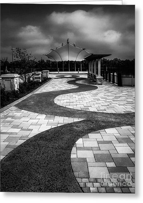Smothers Park Greeting Cards - The Path Greeting Card by Warrena Barnerd