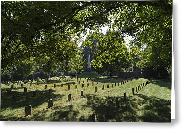 Confederate Monument Greeting Cards - The Paths of Glory Greeting Card by MM Anderson