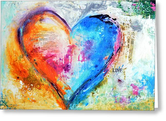 Family Love Greeting Cards - The Patience of Love Greeting Card by Ivan Guaderrama