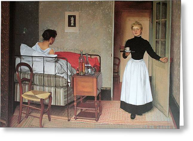 Vallotton Greeting Cards - The Patient Greeting Card by Felix Vallotton