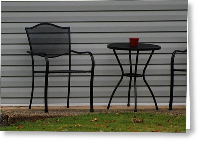 Patio Table And Chairs Digital Art Greeting Cards - THE PATIO in LIVING COLOR Greeting Card by Rob Hans