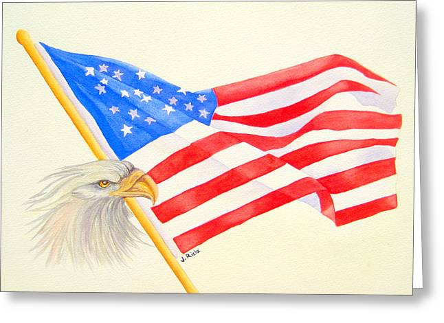 The Patriot Greeting Card by Julia Rietz