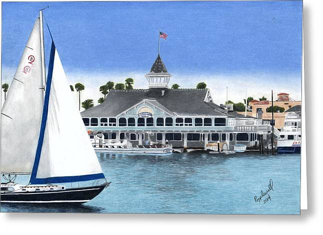 Flyer Paintings Greeting Cards - The Pavilion Greeting Card by Tom Popplewell