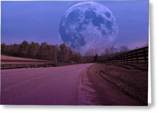 Empowering Greeting Cards - The Peace Moon  Greeting Card by Betsy A  Cutler