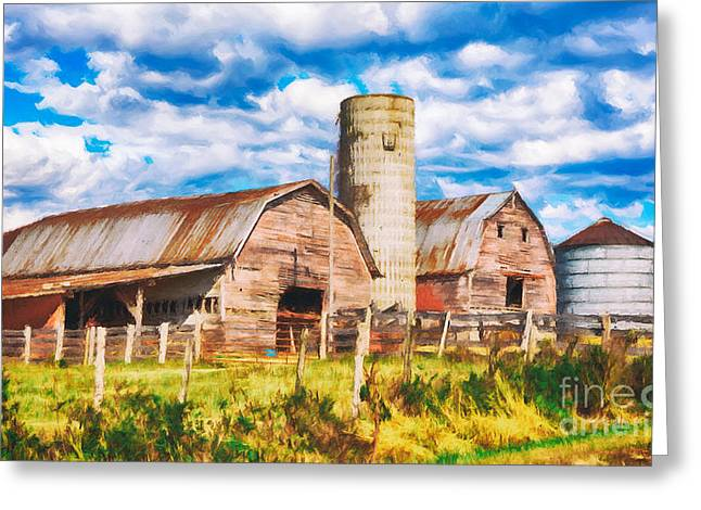 Surreal Barn Prints Greeting Cards - The Peaceful Life II Greeting Card by Dan Carmichael