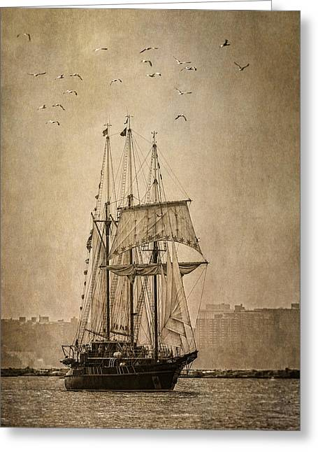 Wooden Ship Greeting Cards - The Peacemaker Greeting Card by Dale Kincaid