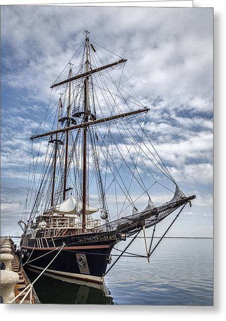 Wooden Ship Photographs Greeting Cards - The Peacemaker Tall Ship Greeting Card by Dale Kincaid