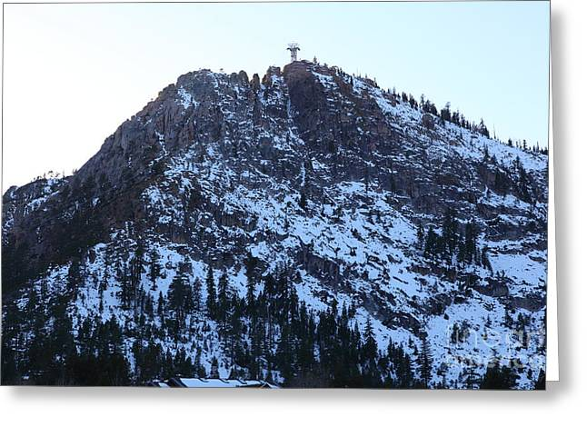 Snow Boarding Greeting Cards - The Peak at Squaw Valley USA 5D27711 Greeting Card by Wingsdomain Art and Photography