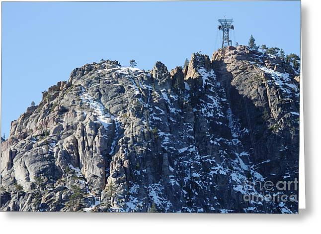 Snow Boarding Greeting Cards - The Peak at Squaw Valley USA 7D27776 Greeting Card by Wingsdomain Art and Photography
