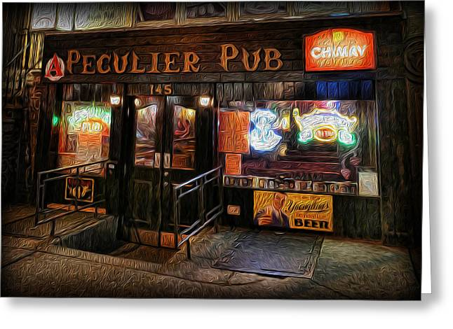 Brew Pub Greeting Cards - The Peculier Pub Greeting Card by Lee Dos Santos