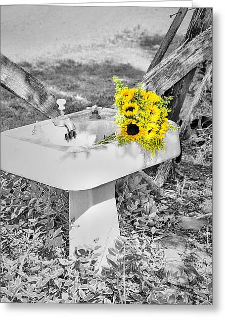Pestal Greeting Cards - The Pedestal Bouquet Greeting Card by Sonja Dover