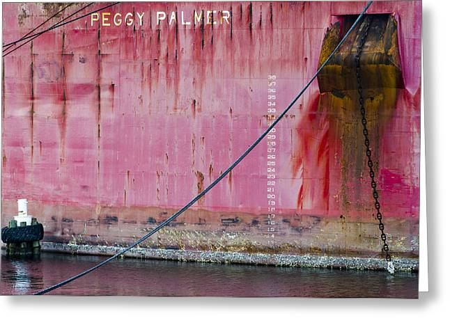 Covered Barge Greeting Cards - The Peggy Palmer Barge Greeting Card by Carolyn Marshall