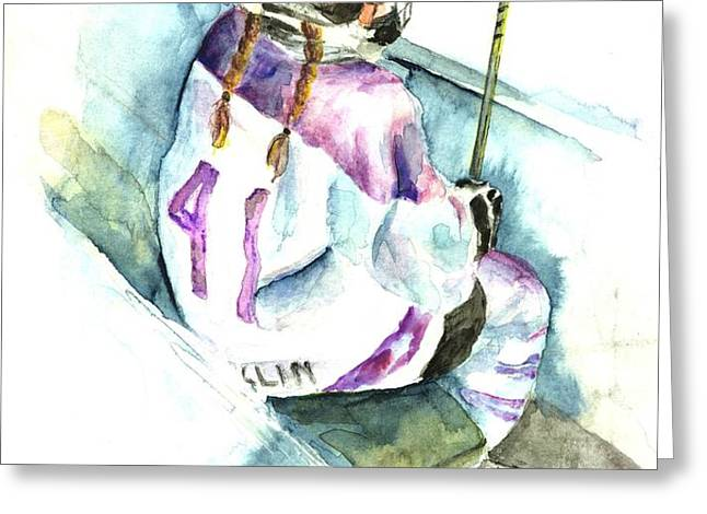 The Penalty Box Greeting Card by Leslie Franklin