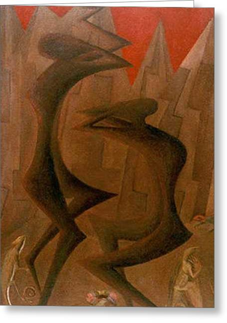 American Painters Greeting Cards - The Penance Dance Greeting Card by Israel Tsvaygenbaum