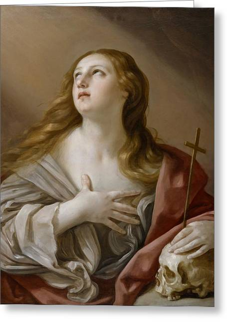 The Followers Digital Art Greeting Cards - The Penitent Magdalene Greeting Card by Guido Reni