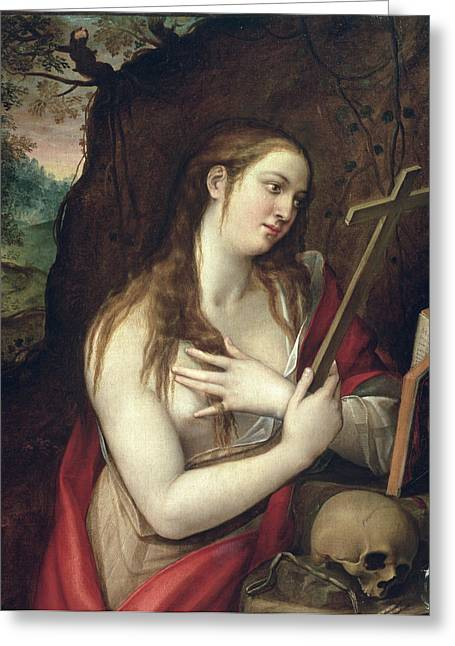 The Penitent Magdalene Greeting Card by Luis de Carbajal