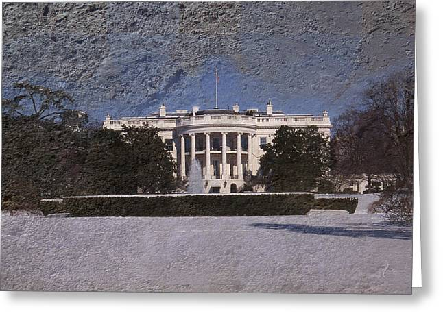 Seat Of Power Greeting Cards - The Peoples House Greeting Card by Skip Willits