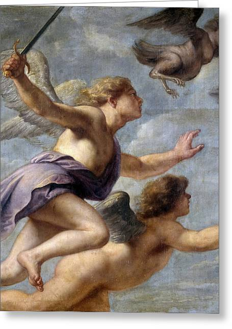 Persecution Greeting Cards - The Persecution of the Harpies Greeting Card by Erasmus Quellinus II