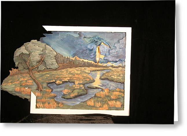 Impressionism Reliefs Greeting Cards - The Persistance of Reality Greeting Card by Desiree Senti