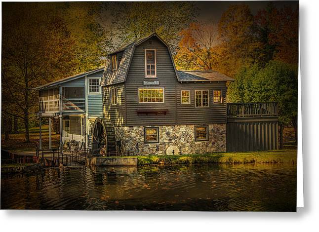 Water Mill Greeting Cards - The Peterson Mill Greeting Card by Randall Nyhof