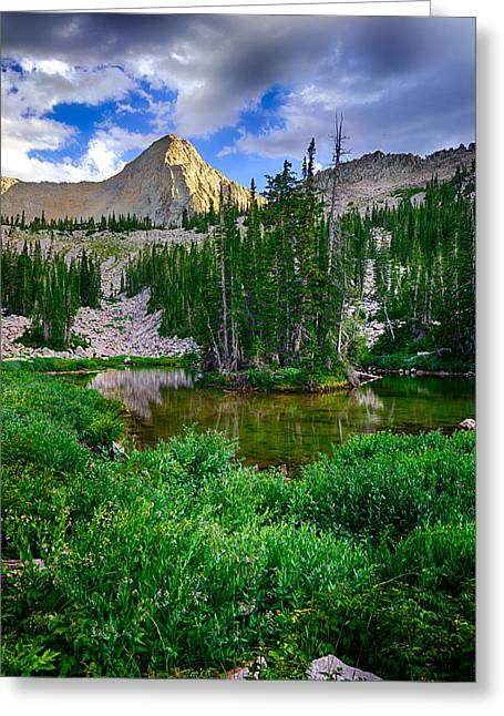 Little Cottonwood Canyon Greeting Cards - The Pfeifferhorn Greeting Card by Kevin Rowe