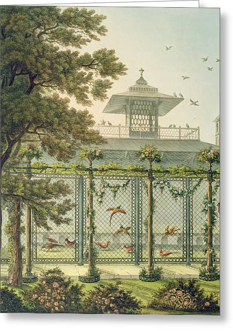 The Pheasantry Greeting Card by Humphry Repton