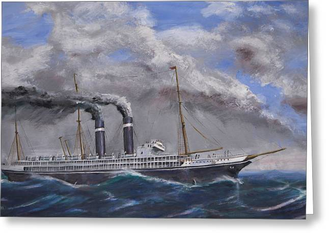 Steam Ship Greeting Cards - The Philadelphia Greeting Card by Christopher Jenkins