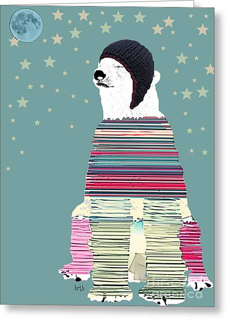 Nighttime Mixed Media Greeting Cards - The Philosopher  Greeting Card by Bri Buckley