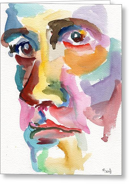 Original Robert Plant Paintings Greeting Cards - The Philosopher Greeting Card by Marina Sotiriou
