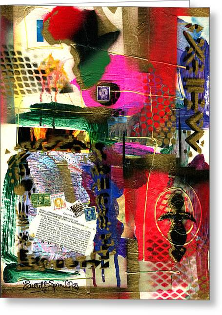 Everett Spruill Mixed Media Greeting Cards - The Philosophy of Social Reformation - 2003 Greeting Card by Everett Spruill