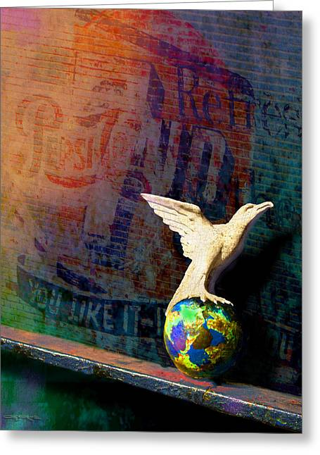 7up Sign Greeting Cards - The Phoenix Greeting Card by Patrick J Osborne