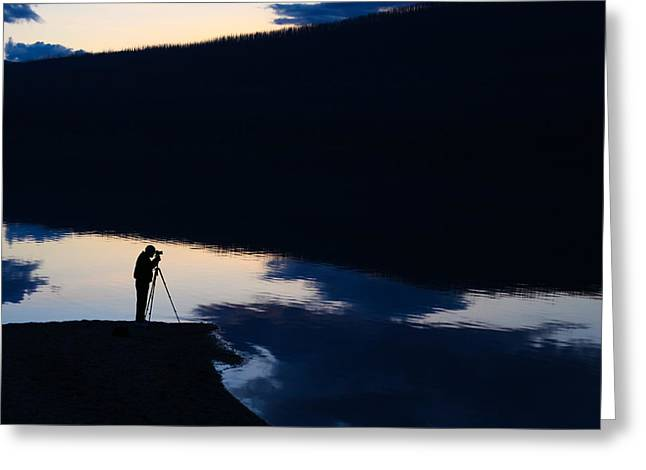 Montana Landscape Art Greeting Cards - The Photographer Greeting Card by Aaron Aldrich