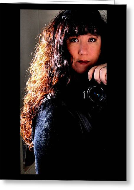 Wavy Hair Greeting Cards - The Photographer Greeting Card by Karen M Scovill