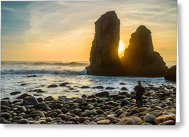 Worlds End Greeting Cards - The Photographers Quest II Greeting Card by Marco Oliveira
