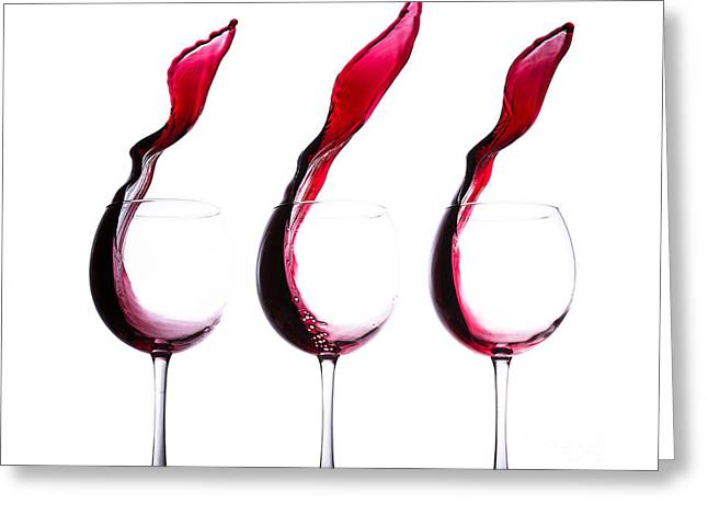Photography Of Wine Bottles Greeting Cards - The Physics of Wine Greeting Card by Jordan Danko