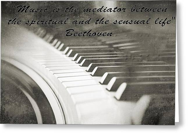 Pianist Mixed Media Greeting Cards - The Pianist Greeting Card by Dan Sproul