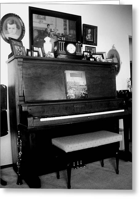 The Piano And Clarinet  Greeting Card by Peggy Leyva Conley