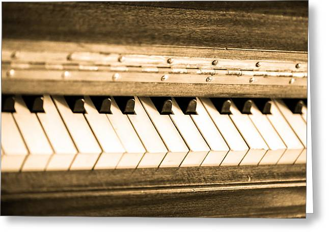 Metal Sheet Greeting Cards - The piano Greeting Card by Eti Reid