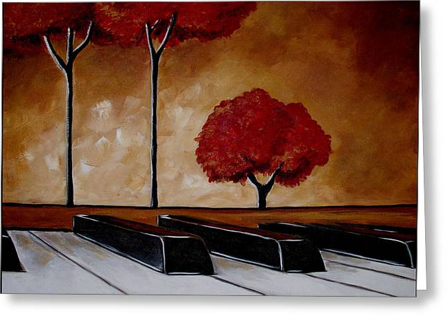The Piano Man's Dream Greeting Card by Vickie Warner