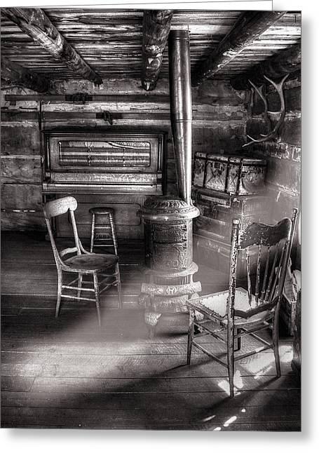 Old Cabins Greeting Cards - The Piano Room Greeting Card by Ken Smith