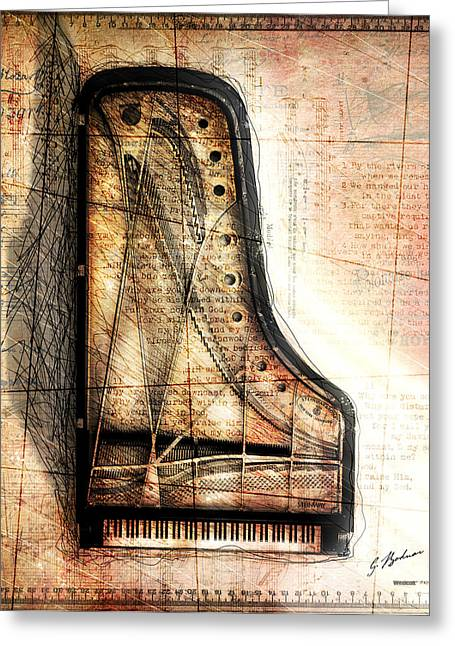 Piano Digital Art Greeting Cards - Prelude To Dawn Greeting Card by Gary Bodnar